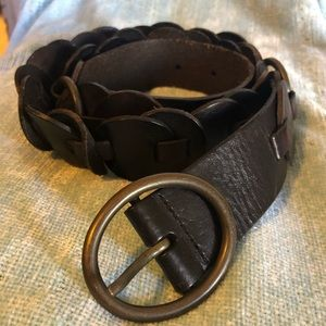 Fossil Dark Brown Boho Western Belt